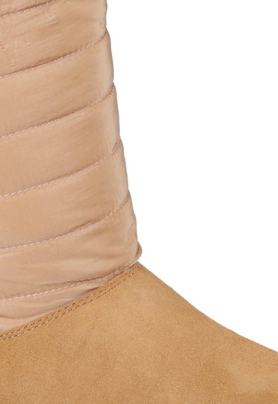Skechers Cizme scurte de piele intoarsa si material textil fara inchidere Joy Femei