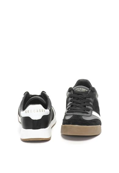 Skechers Pantofi sport de piele cu garnituri de piele intoarsa Zinger Barbati
