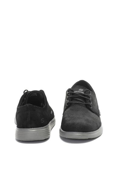 Skechers Велурени обувки Derby Status Мъже