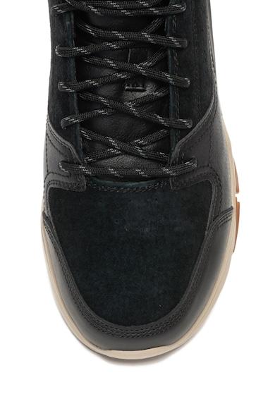 Skechers Soven középmagas szárú sneakers cipő nyersbőr szegélyekkel férfi
