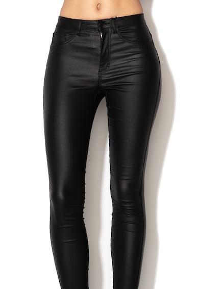 Only Pantaloni skinny cu pelicula lucioasa Royal Femei