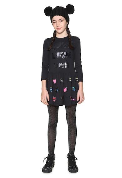 DESIGUAL Topeka szövegmintás bővülő fazonú ruha Lány