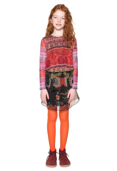 DESIGUAL Oroya virágmintás többrétegű ruha Lány