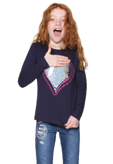 DESIGUAL Bluza cu paiete reversibile Fete