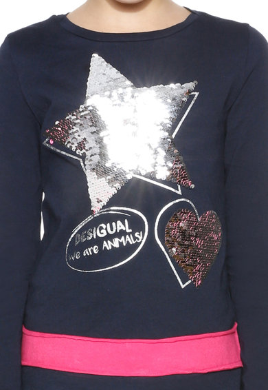 DESIGUAL Блуза Hamilton с двулицеви пайети Момичета