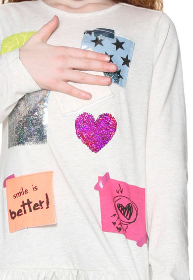 DESIGUAL Блуза Alabama с двулицеви пайети Момичета