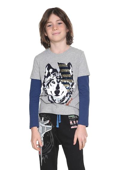 DESIGUAL Блуза Tomas с дизайн 2в1 Момчета