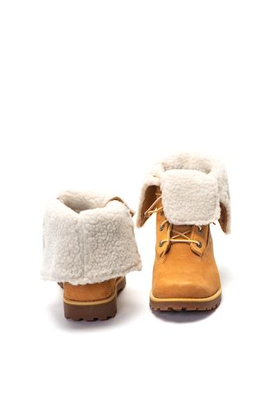Timberland Bocanci de piele cu captuseala de blana shearling sintetica Fete