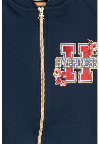 Tom Tailor Kids Cipzáros pulóver hímzéssel Lány