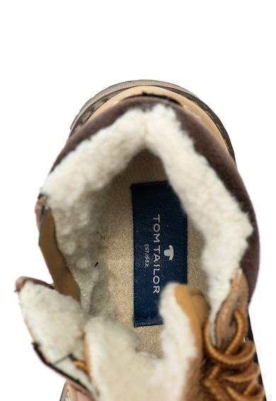Tom Tailor Kids Bocanci impermeabili de piele ecologica cu captuseala din blana shearling sintetica Baieti