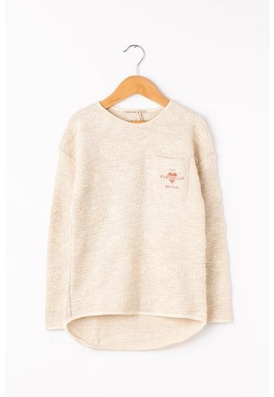 Pepe Jeans London Пуловер Sandy с асиметричен подгъв Момичета