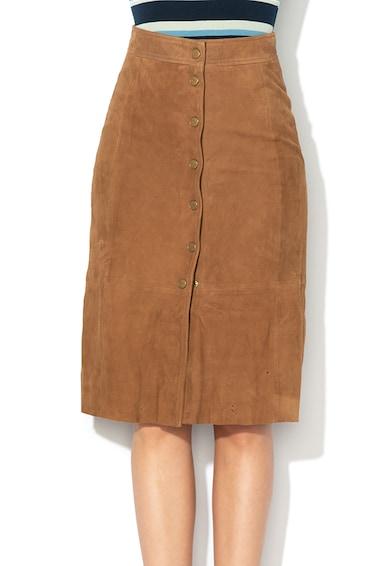 Pepe Jeans London Велурена пола с висока талия Жени