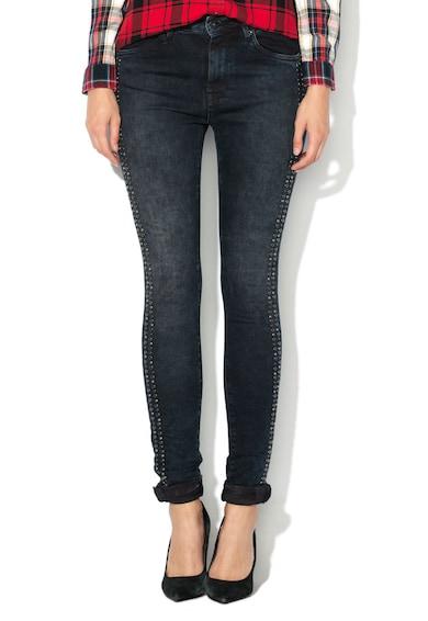 Pepe Jeans London Дънки по тялото Bowie с апликация от капси Жени