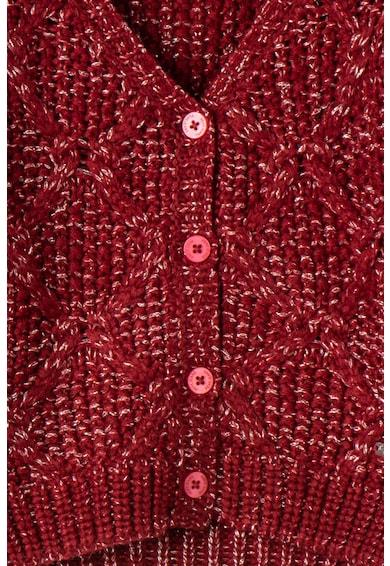 Pepe Jeans London Плетена жилетка Glenda с лъскави нишки Момичета