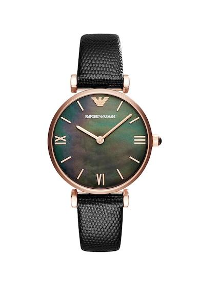 Emporio Armani Часовник Gianni с кожена каишка Жени