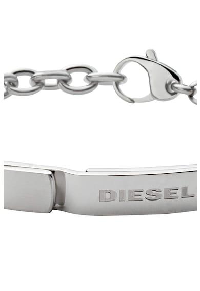 Diesel Bratara din otel cu logo Barbati