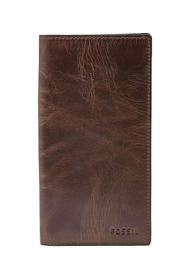 Fossil Кожен портфейл с винтидж дизайн Мъже