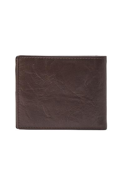 Fossil Кожен портфейл Neel с релефно лого Мъже