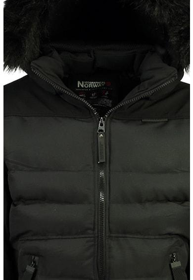 Geographical Norway Geaca cu aspect matlasat si garnituri de blana sintetica Barbati
