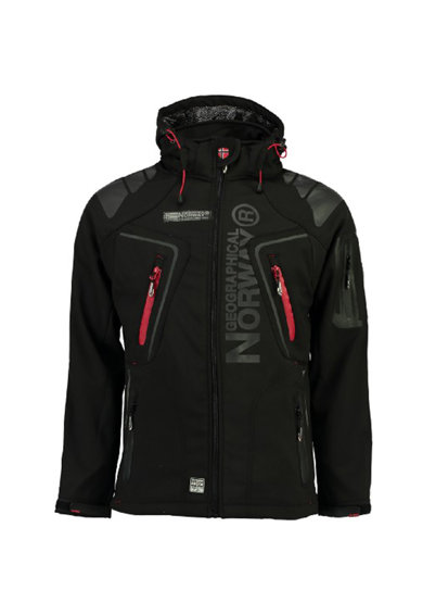 Geographical Norway Techno könnyű súlyú dzseki levehető kapucnival, Fekete, S férfi