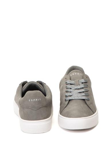 Esprit Pantofi sport de piele ecologica cu sireturi din lurex Femei
