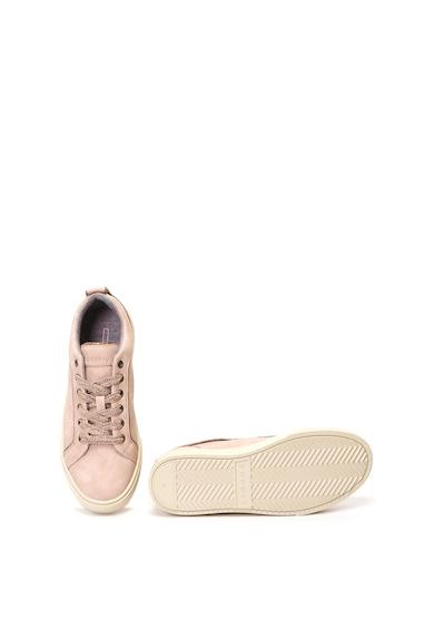 Esprit Pantofi sport de piele ecologica, cu detalii stralucitoare Femei