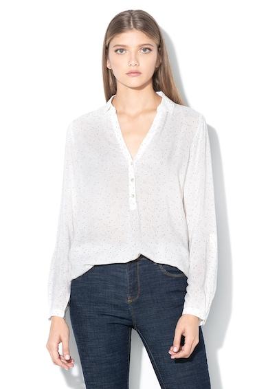 EDC by Esprit Mintás felső rövid gombos nyakkivágással női