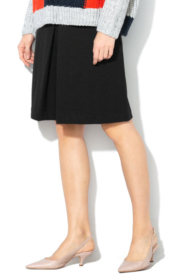 Esprit A-vonalú dzsörzé szoknya redőzéssel női