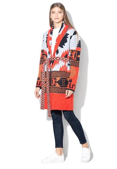Esprit Cardigan lung cu model etnic Femei