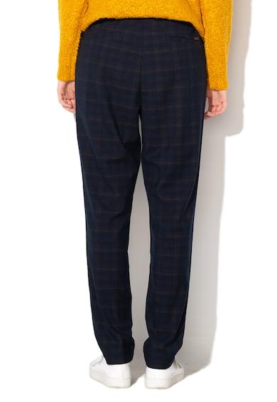 Esprit Szűkülő fazonú kockás nadrág rugalmas alsó szegéllyel női