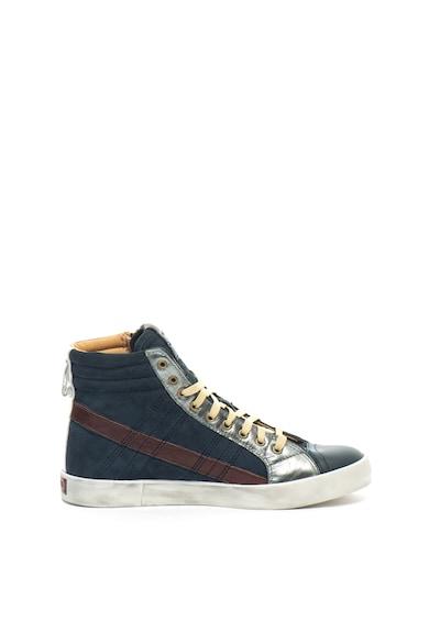 Diesel D-String Plus magas szárú nyersbőr sneakers cipő bőr szegélyekkel férfi