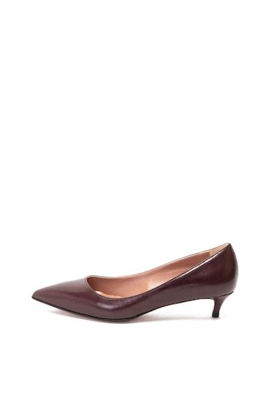 Zee Lane Кожени обувки Carla с котешки ток Жени