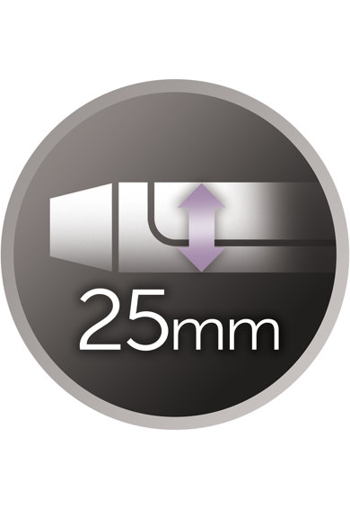 Remington Ondulator  Pro Soft Curl , 220°C, 25mm, display digital, Negru Femei