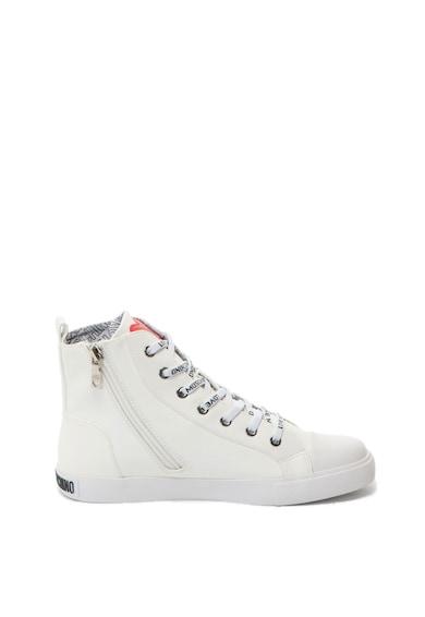 Love Moschino Ökobőr cipő logórátéttel női