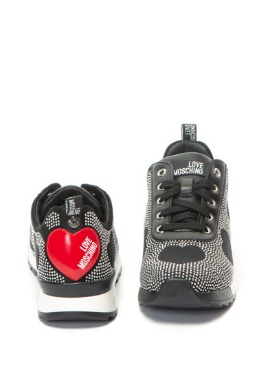 Love Moschino Pantofi sport cu aplicatii cu tinte Femei