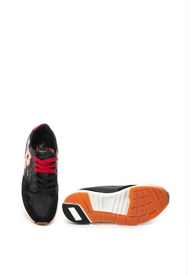 Pepe Jeans London Foster Rose sneakers cipő hímzett virággal női