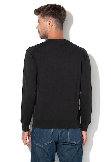 Gant Pulover din tricot fin cu decolteu in V Barbati