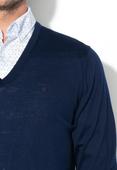 Gant Merinógyapjú V-nyakú pulóver férfi