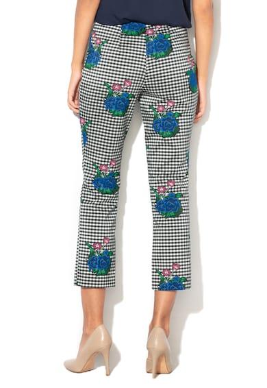 GUESS JEANS Capri nadrág kockás&virágos mintával női