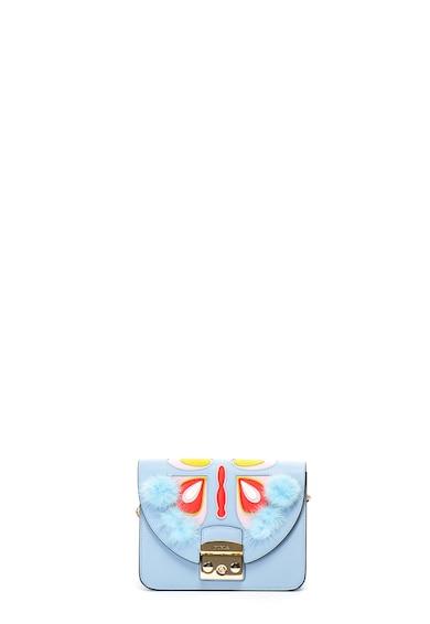 Furla Кожена чанта Metropolis Papillon с пух Жени