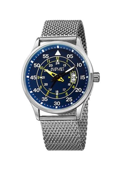 August Steiner Овален часовник с метална верижка Мъже