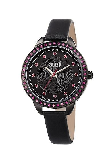 BURGI Овален часовник с кристали Swarovski Жени
