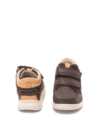 Clarks Pantofi de piele cu inchidere velcro Cloud Tuktu Fete