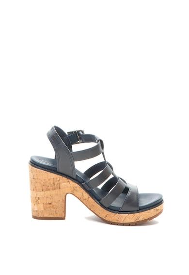Timberland Sandale de piele cu toc masiv Roslyn Femei