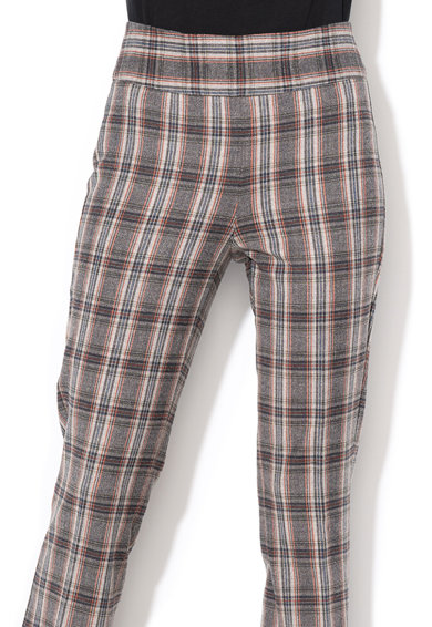 United Colors of Benetton Pantaloni din lana cu croiala evazata si model in carouri Femei