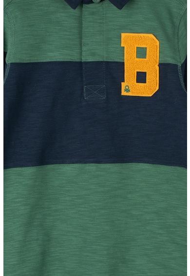 United Colors of Benetton Bluza polo cu model in dungi Baieti