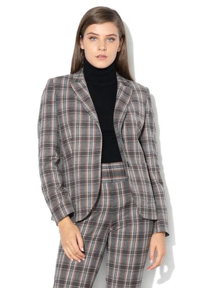 United Colors of Benetton Sacou din amestec de lana, cu model in carouri Femei