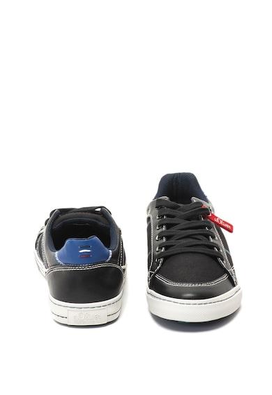 s.Oliver Pantofi sport de piele ecologica, cu cusaturi decorative Barbati
