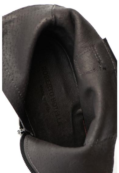Roberto Botella Botine de piele, cu dantela brodata Femei