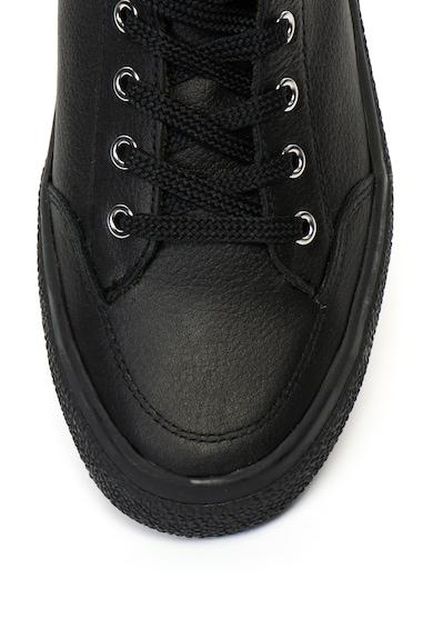 Napapijri Jakob bőr sneakers cipő nyersbőr szegélyekkel férfi